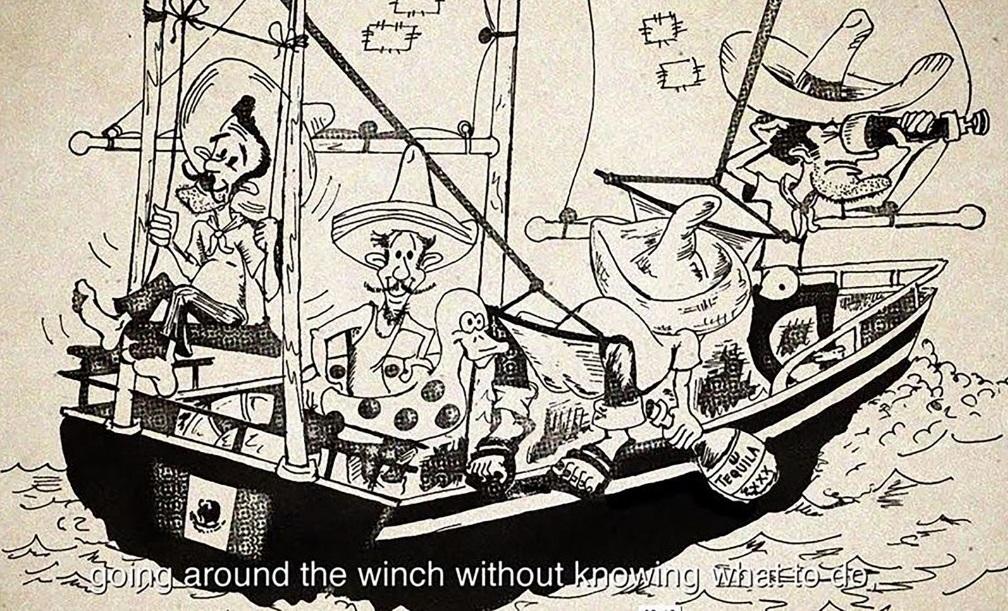 Die britische Presse machte sich vor dem Start in Artikeln und Cartoons lustig über den Freizeitkapitän Carlín und seine Mannschaft